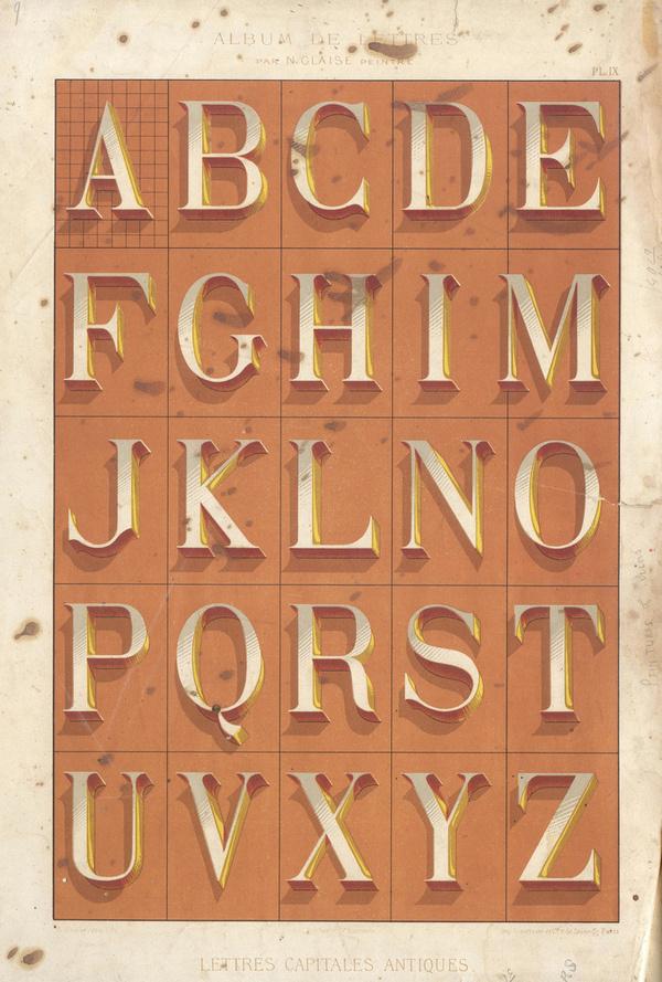 Alphabets_6 #alphabet #vintage #dimension #typography