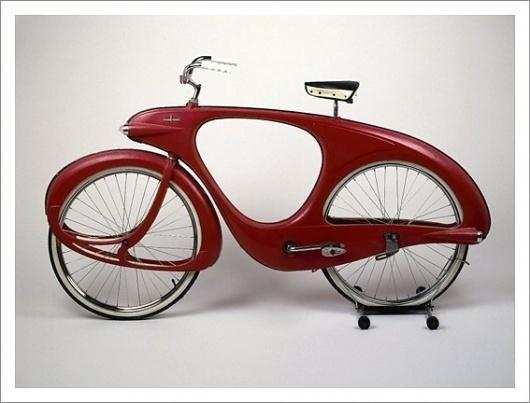 Benjamin Bowden – Futuristic Spacelander Bicycle / Aqua-Velvet #retro #bike