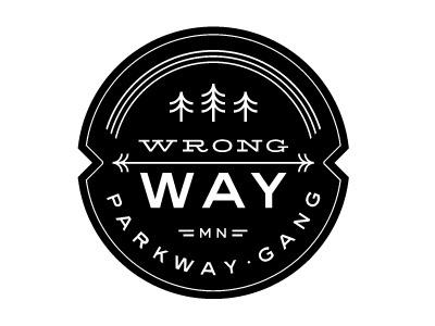 FFFFOUND! | Dribbble - Mpls Bike Gangs / Wrong Way Parkway Gang by Allan Peters #logo #illustration