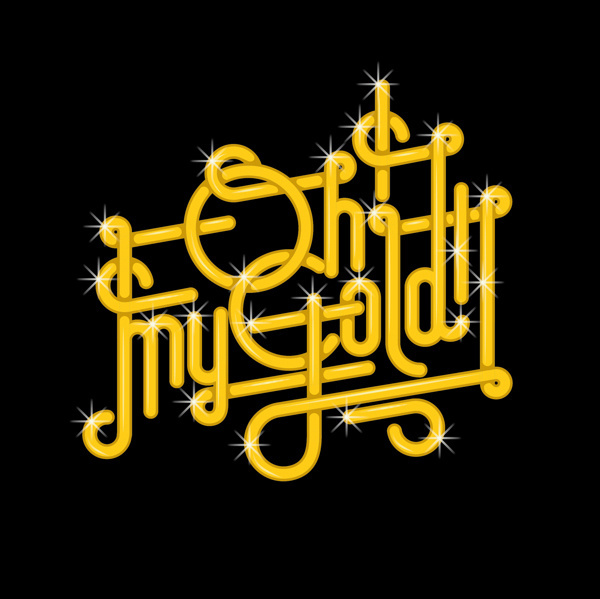 Lettering Collection on Behance. Oh my gold! Sergi Delgado #calligraphy #lettering #delgado #design #graphic #custom #cutom #illustration #poster #barcelona #gold #type #sergi #typography