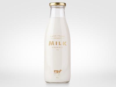 Milk Label #milk #design #label #bottle