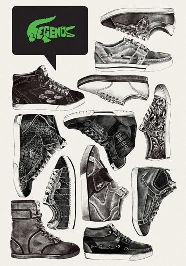 Lacoste Legends on the Behance Network #print #illustration