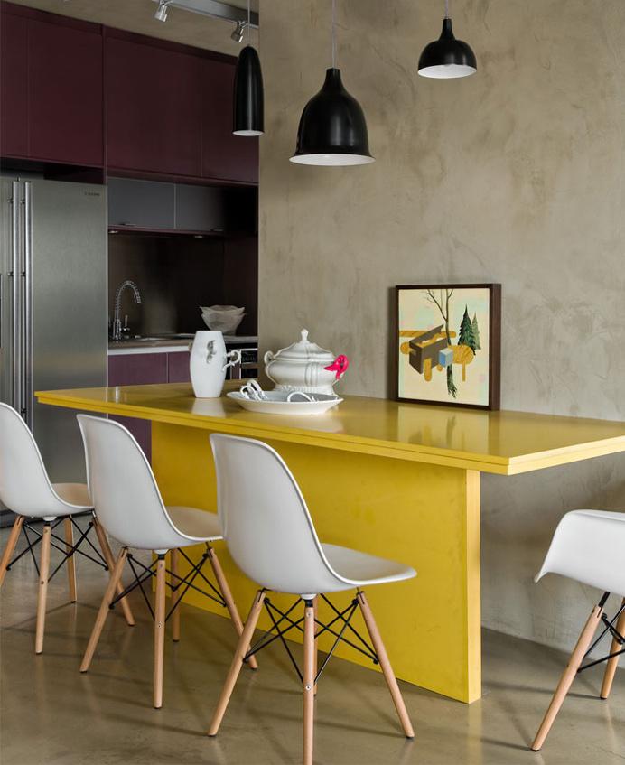 Loft Interior Design in Beige and Purple - #decor, #interior, #homedecor, home decor, interior design