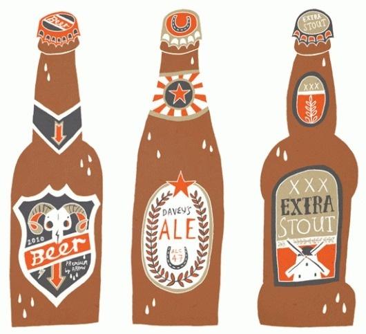 Owen Davey Illustration #beer #illustration