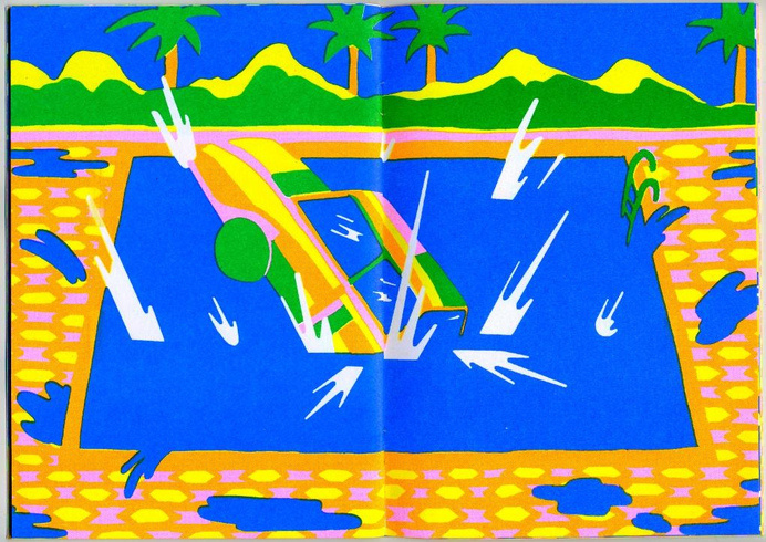 """Page spread from """"Rally"""" by Annu Kilpelainen, 2014 