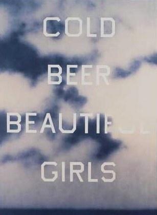 Piccsy :: cold beer beautiful girls #ruscha #edward #art