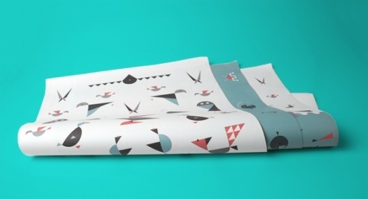 Børk - Creative Studio on the Behance Network #pattern #fish #symbols #gift #birds #iceland #wrapping #paper #scandinavia
