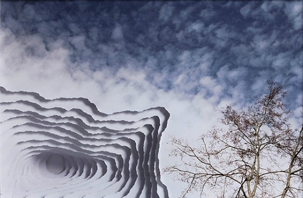 Clouds, Smoke and Portals from Torn Photographs | strictlypaper #sky