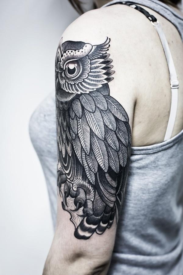 owl tattoo #ink #owl #body #tatto #art