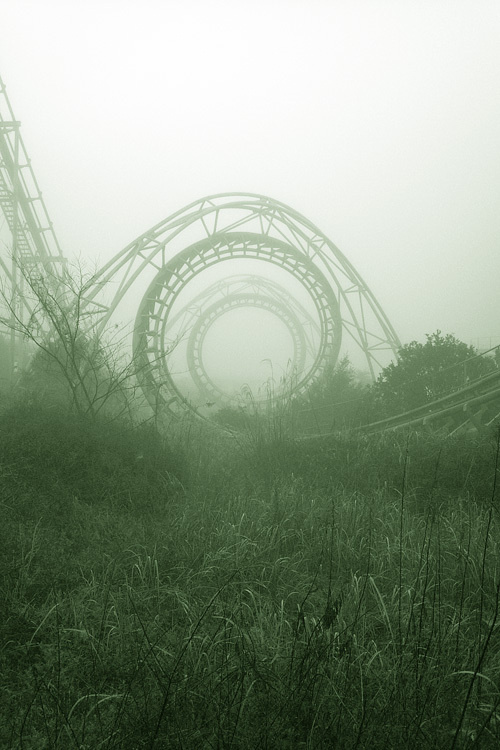 """Image Spark - Image tagged """"photography"""", """"fantasy"""", """"landscape"""" - wisdom-justiceandlove #rollercoaster #fog #sky #grass #photo #mystery #circle #horizon"""