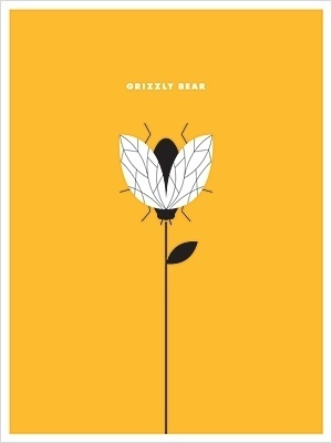 THE SMALL STAKES - sold out posters #grizzly #small #yellow #bee #minimalism #stakes #poster #bear #band #typography