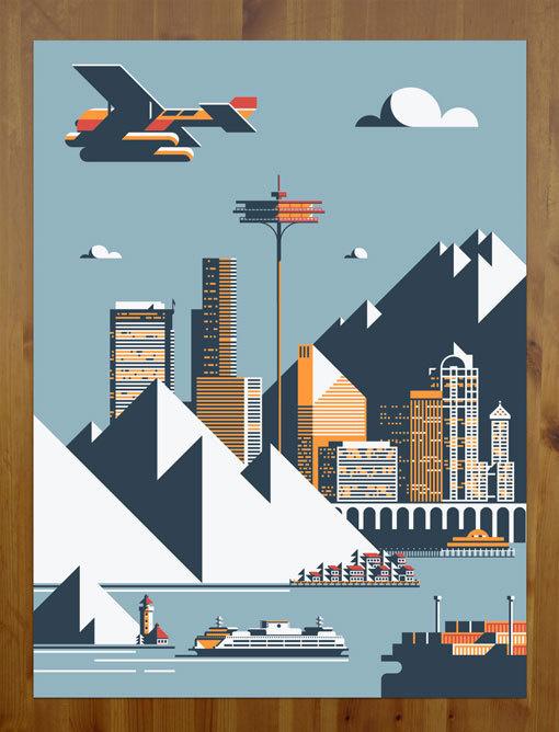 RickMurphy_SeattlePrint #illustration