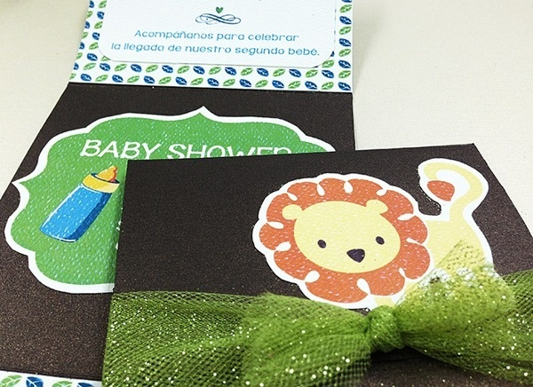 Baby Shower Invitation. Baby Lion Theme. #invitation #shower #crafts #print #lion #impreso #manualidades #len #baby
