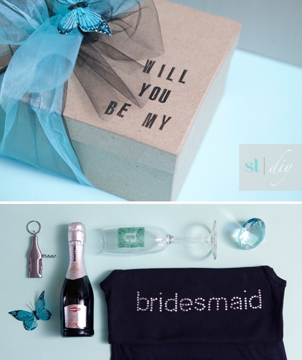 DIY   will you be my bridesmaid? » Something Turquoise {daily bridal inspiration} #present #box