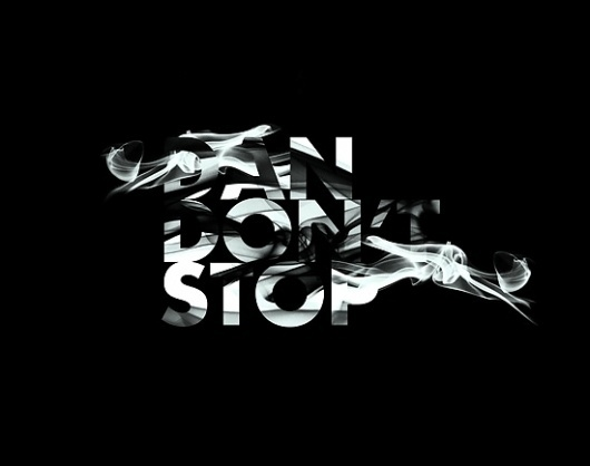 Smoke + Type on the Behance Network #lettering #awesome
