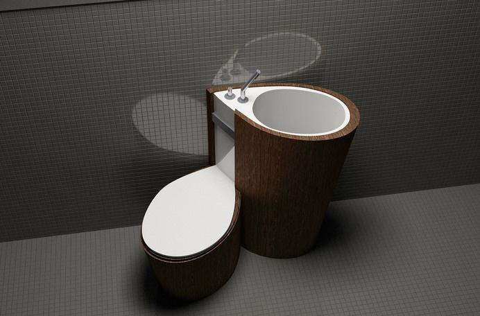 Za Bor Architects proposes an optimal combination of the toilet and sink - www.homeworlddesign. com (7) #ideas #furniture #bathroom