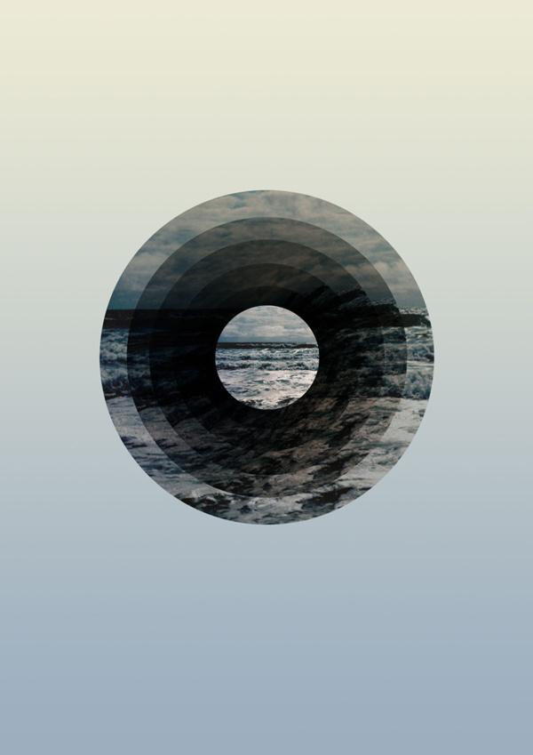 Astral Sea #ocean #sky #sydney #design #graphic #round #wave #earth #sea #minimal #gradient #blue