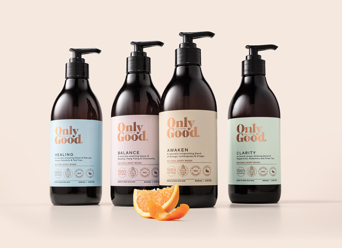 Only Good Body Wash #packaging #typography