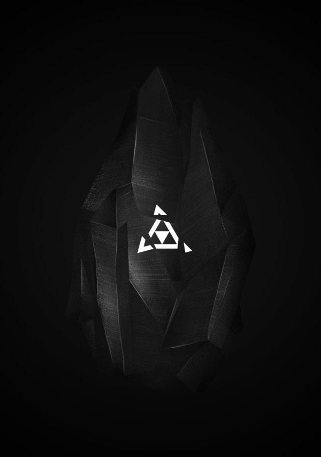 fragment, shatter, black, dark, triangle, geometric