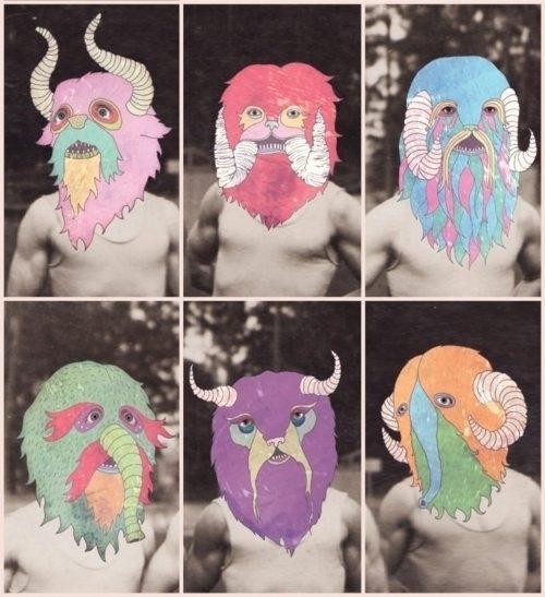 tumblr_lsrstpGzsE1qix50ao1_500.jpg 500×547 pixel #sepia #photo #monsters #on #illustration #colors
