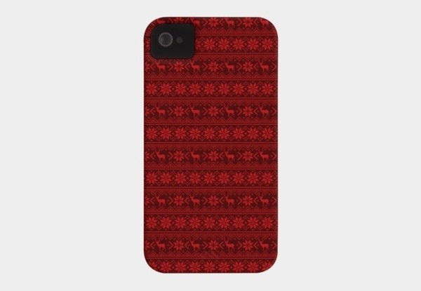 Red Nordic Case For Iphone Or Galaxy #iphone #case #pattern #nordic