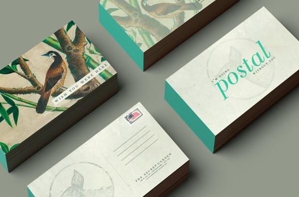 The Secret Garden #branding #design #direction #art #stationery #postcards #typography