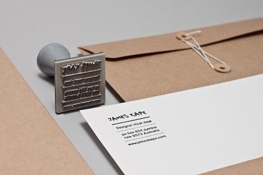 James Kape | Work: James Kape Portfolio #stamp #print #portfolio #book #stationery