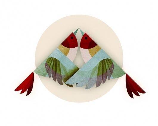 animals - Andrew Lyons #andrew #lyons #illustration #bird