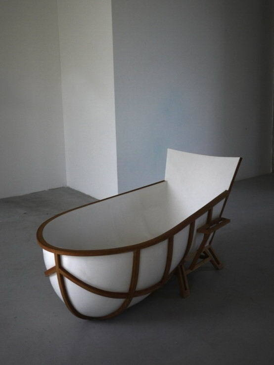 Artistic chair bathtub with modern design #artistic #bathroom #furniture #art #bathtub