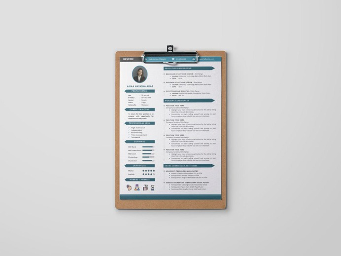 Free Word Formal Resume Template for Job Seeker