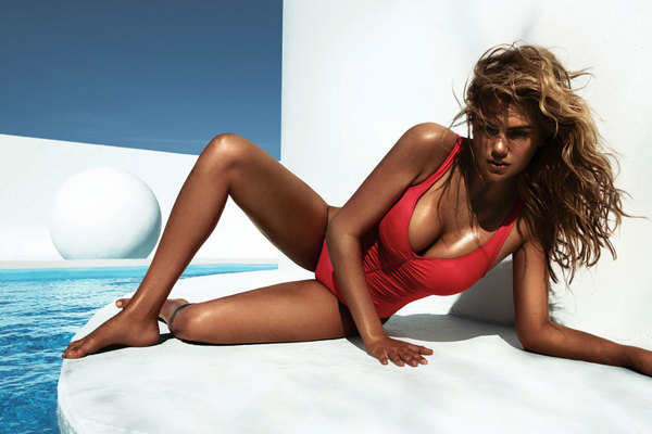 Kate Upton by Miguel Reveriego for Vogue Spain July 2012 Photo #model #sun #tanned #girl #photography