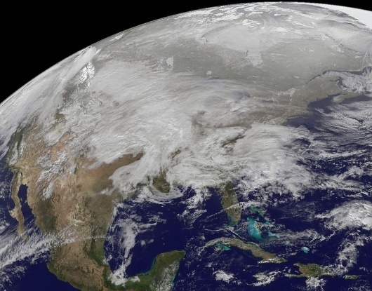 Satellite Shows Winter Megastorm Painting U.S. White | Wired Science| Wired.com #earth #storm #weather #space