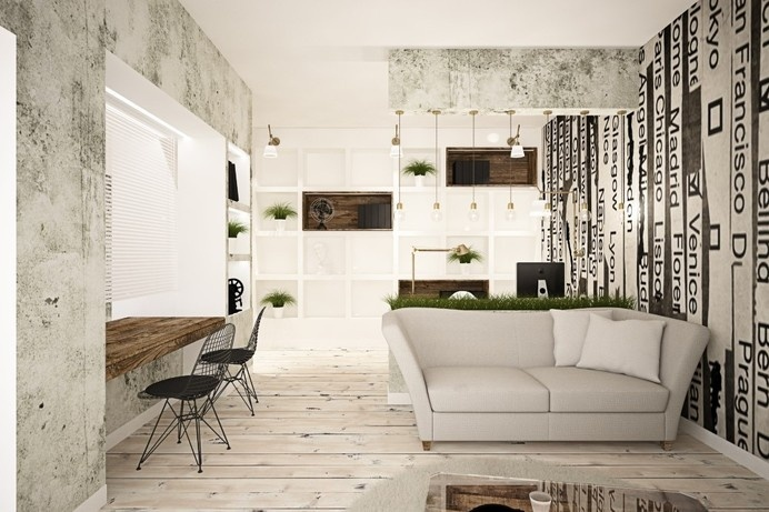 65 square meters vintage apartment by Brain Factory / Rome
