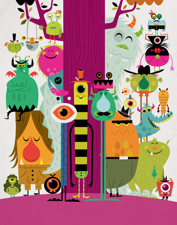 22 Friends #monsters #illustration #invisible #friends #creature