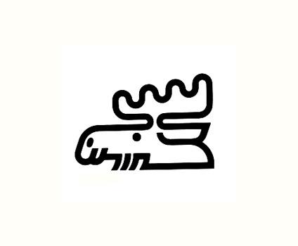 Koichi Imakita for Nipon Kynol 1980 Osaka #deer #logos #trademark #branding #icon #alces #identity #vintage #moose #logo #animal
