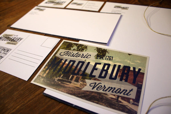 Middlebury, Vermont #middlebury #challenge #design #vermont #brown #john #stationery #aiga