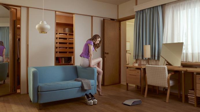 Alvar Aalto Maison Carré | moderndesign.org #interior #lamp #woman #alvar #desk #aalto