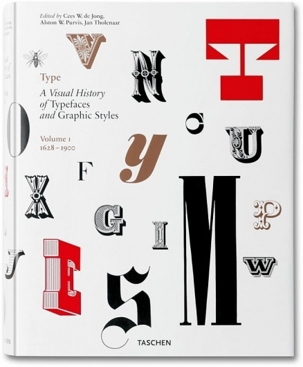 Type. A Visual History of Typefaces & Graphic Styles. 1628–1900. TASCHEN Books #design #graphic #book #typefaces #cover #tip #typography