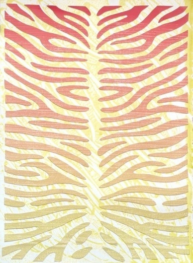 Dan Bina, Danimal Exploits, Yellow #abstract #bina #print #design #dan #zebra #art #painting #collage