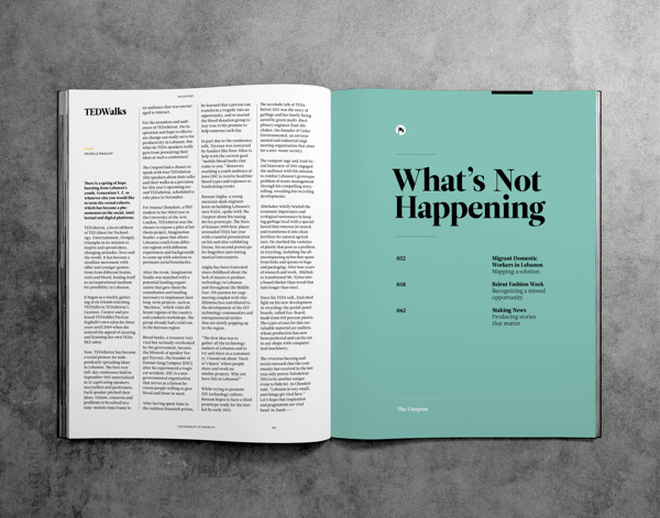 Outpost Magazine #editorial #magazine #typography