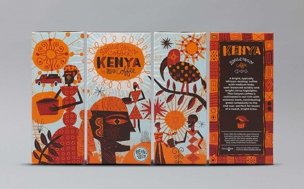 Rio Coffee illustration by Nate Williams #coffee #illustration #kenya #package