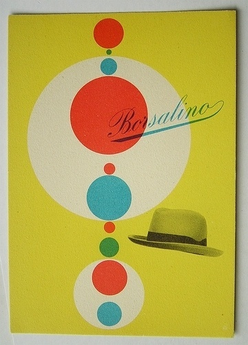 max huber. borsalino | Flickr - Photo Sharing! #max #huber #swiss #script #modern #color #mid #hat #century #modernism