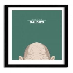Notorious Baldie GOLLUM by Mr Peruca #print