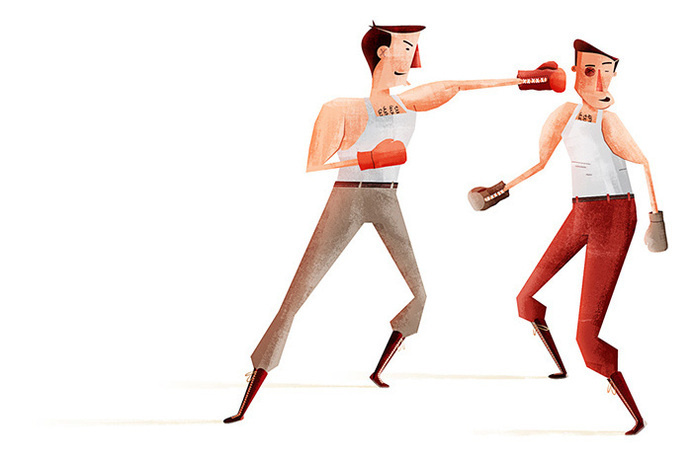 glenn thomas #illustration #boxing #art