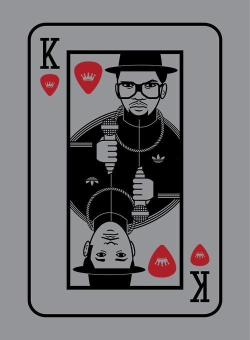 run dmc playing card #adidas #luke #skinner #illustration #hop #hip
