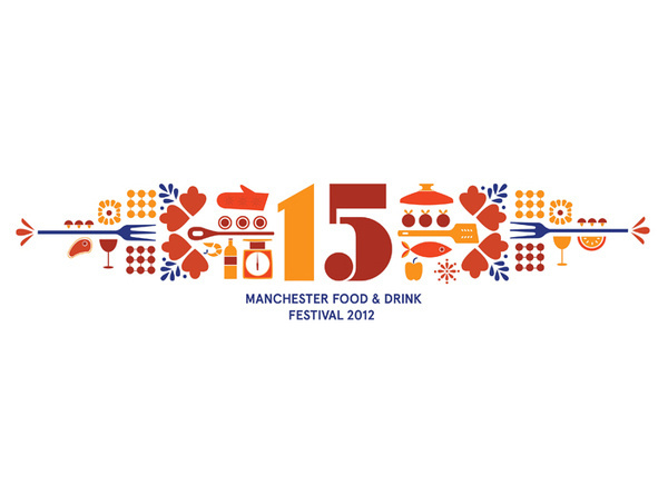 Manchester Food and Drink Festival | Bitique #logo #illustration #identity