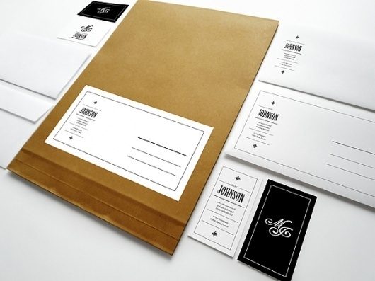 Marc Johnson identity concepts / 2011 on the Behance Network #identity #stationary