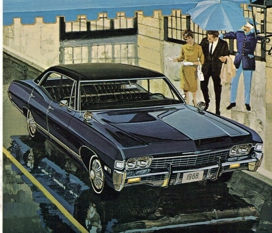 All sizes | 1968 Chevrolet Caprice 4 door hardtop | Flickr - Photo Sharing! #caprice #chevrolet #1968 #illustration #painting