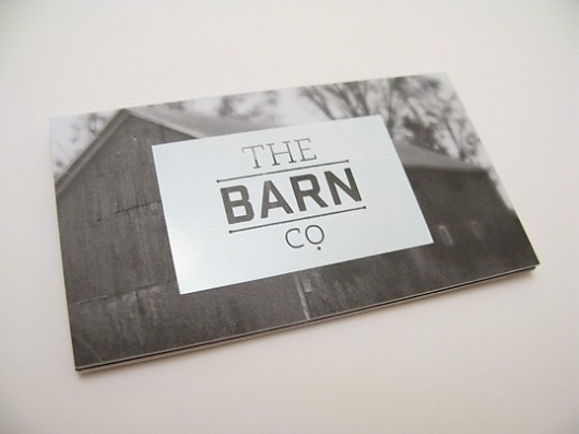 The Barn Co. | Lovely Stationery #type #card #blackandwhite #business
