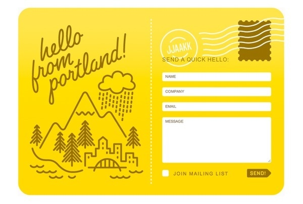 inspiring yellow contact form illustrated #form #design #contact #illustration #web